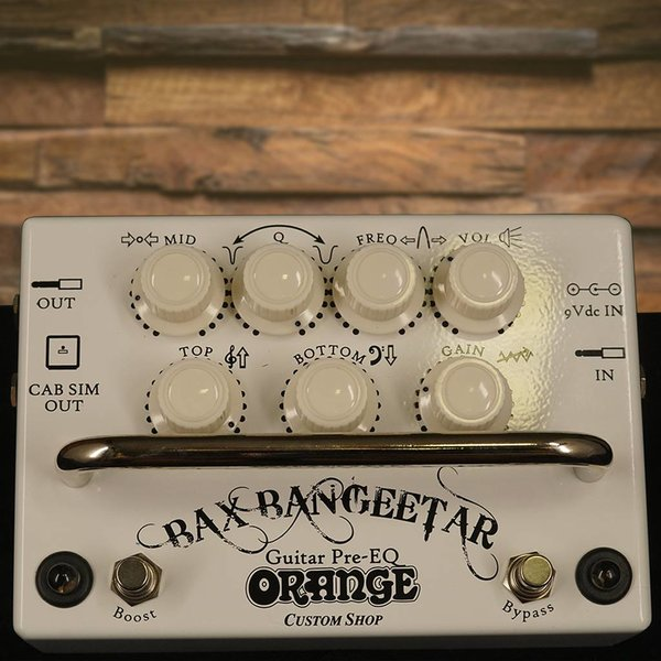 Orange Orange BAX BANGEETAR WHT Guitar Preamp stompbox parametric cab-sim boost