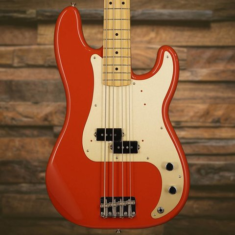 Fender '50s Precision P Bass Fiesta Red with Maple Fingerboard Gold Pickguard