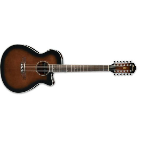 Ibanez AEG1812IINT AEG Acoustic Electric 12String Guitar - Dark Violin Sunburst