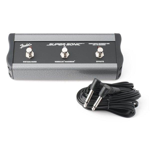"Fender 3-Button Footswitch: Vintage & Burn/Vibrolux & Bassman/Effects, 1/4"" Connector"