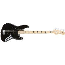 Fender American Elite Jazz Bass, Maple Fingerboard, Black