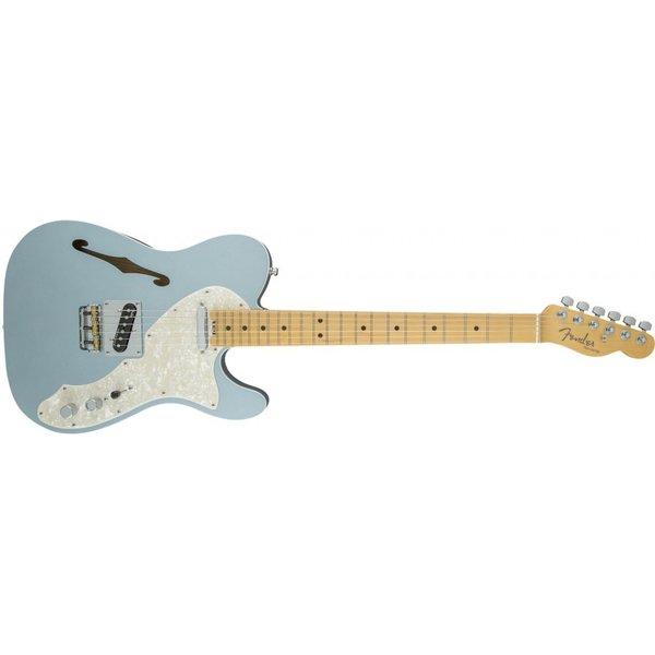 Fender American Elite Telecaster Thinline, Maple Fingerboard, Mystic Ice Blue