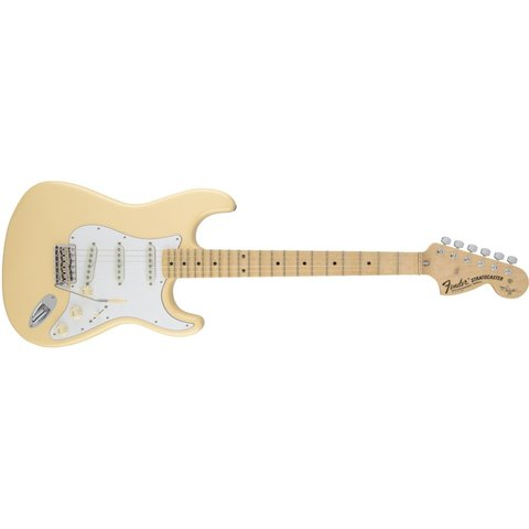Yngwie Malmsteen Stratocaster, Scalloped Maple Fingerboard, Vintage White