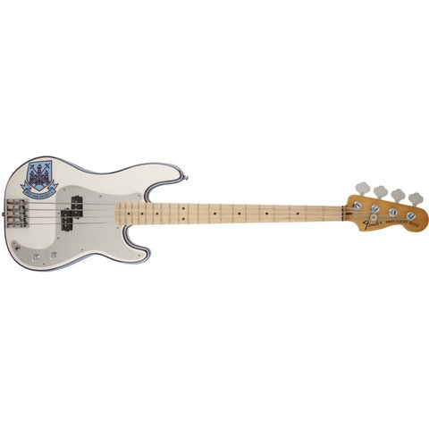 Steve Harris Precision Bass, Maple Fingerboard, Olympic White