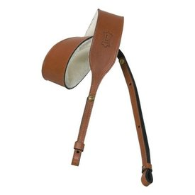 Levy's Leathers Levy's PMB32-WAL 2'' Carving Leather Banjo Strap Walnut