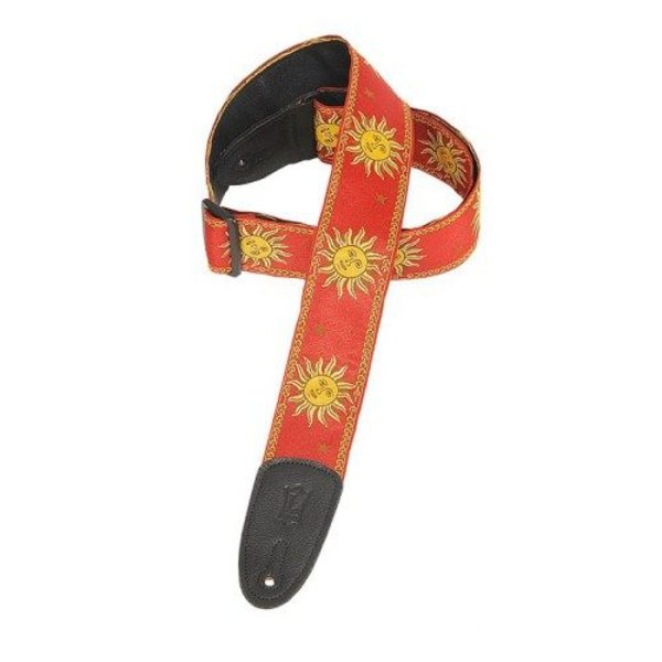 Levy's Leathers Levy's MPJG-SUN-RED 2'' Polypropylene Strap w/ Jacquard Red