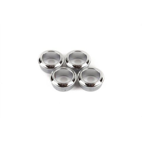 Bass Tuning Machine Bushings- Standard/Deluxe Series (Mexico), Chrome