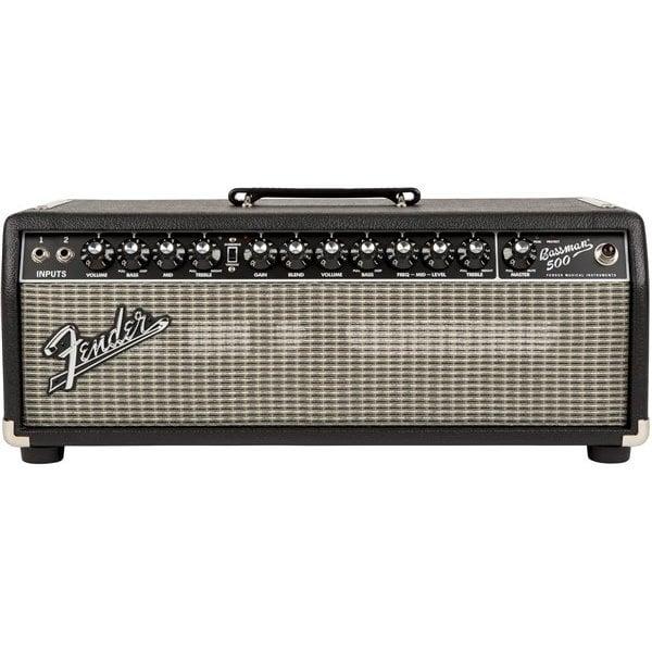 Fender Bassman 500 Head, 120V, Black/Silver
