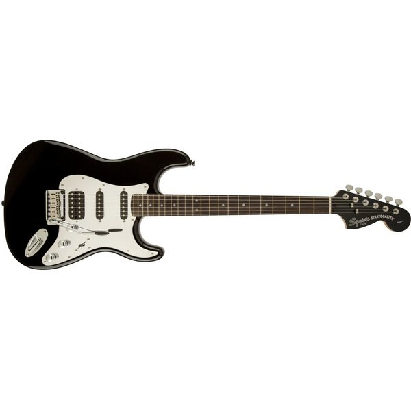 Squier Black and Chrome Standard Stratocaster HSS, Rosewood Fingerboard, Black
