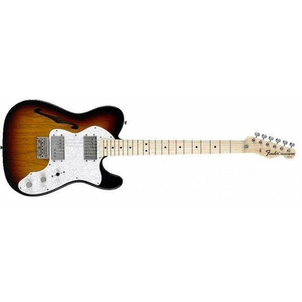 Fender Classic Series '72 Telecaster Thinline, Maple Fingerboard, 3-Color Sunburst