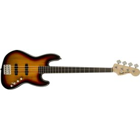 Squier Deluxe Jazz Bass IV Active (4 String), Ebonol Fingerboard, 3-Color Sunburst
