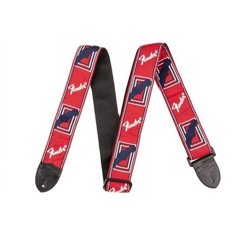 Fender 2'' Monogrammed Strap, Red/White/Blue