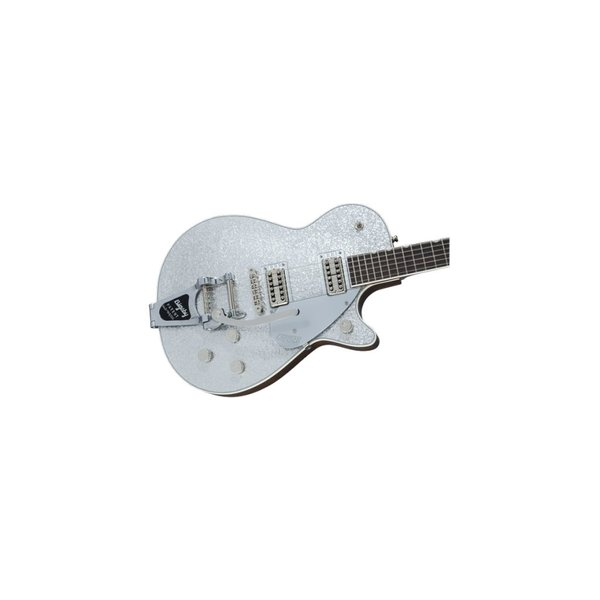 Gretsch Guitars G6129T Players Edition Jet FT with Bigsby, Rosewood Fingerboard, Silver Sparkle