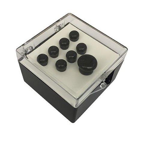 Martin Pin Sets, Plain Black Polished 18