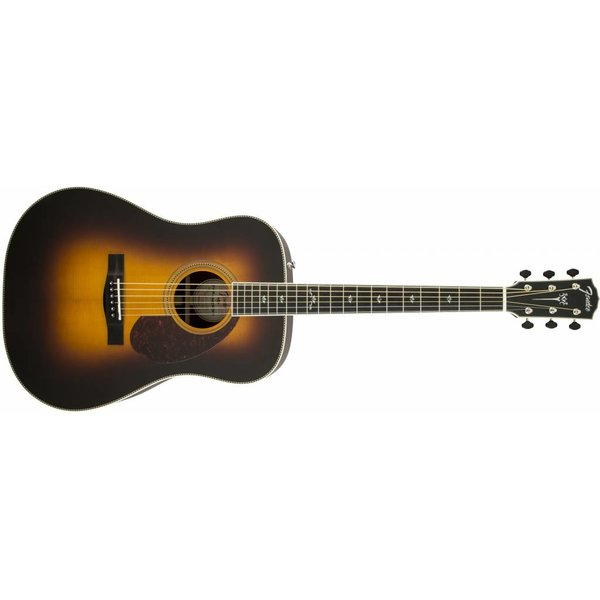 Fender PM-1 Deluxe Dreadnought, Ebony Fingerboard, Vintage Sunburst