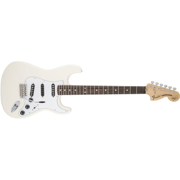 Fender Ritchie Blackmore Stratocaster, Scalloped Rosewood Fingerboard, Olympic White