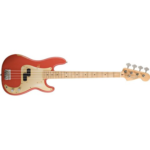Road Worn '50s Precision Bass, Maple Fingerboard, Fiesta Red