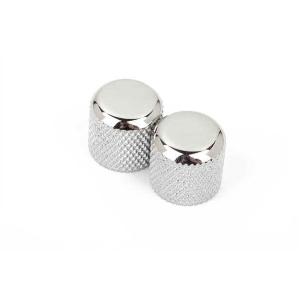 Fender Telecaster / Precision Bass Dome Knobs (Chrome) (2)