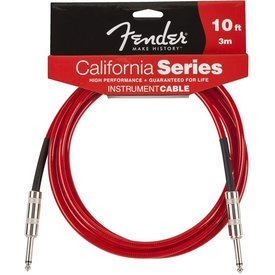 Fender Fender California Instrument Cable, 10', Candy Apple Red