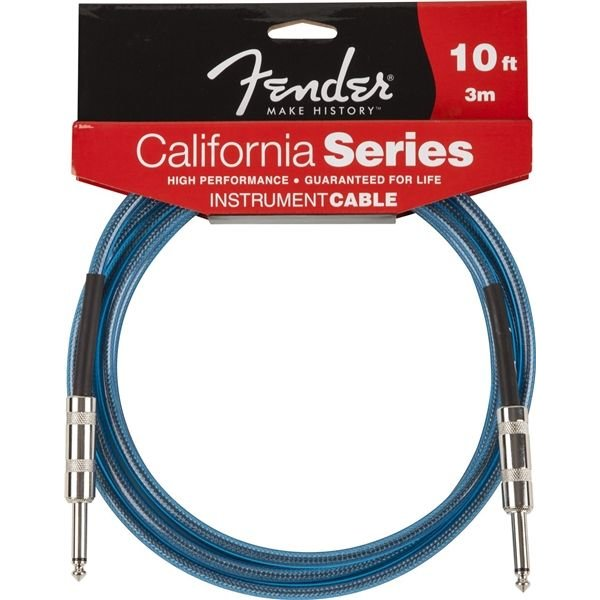 Fender Fender California Instrument Cable, 10', Lake Placid Blue