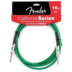 Fender Fender California Instrument Cable, 10', Surf Green