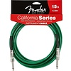 Fender California Instrument Cable, 15', Surf Green