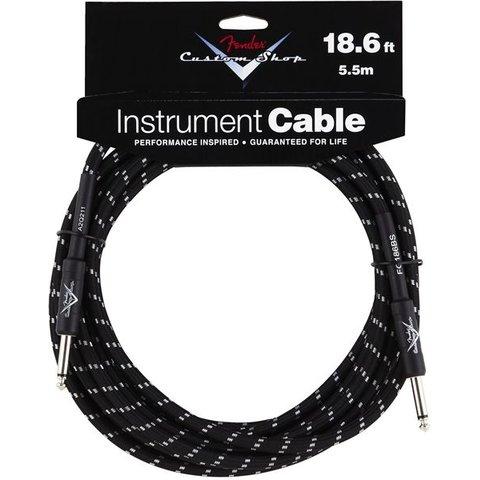 Fender Custom Shop 18.6' 5.5M Instrument Cable Black Tweed