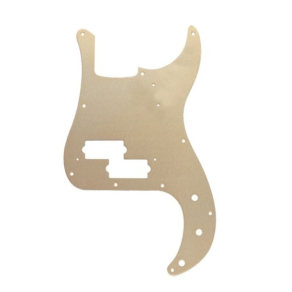 Fender Pickguard, '57 Precision Bass, 10-Hole Mount, Gold Anodized, 1-Ply