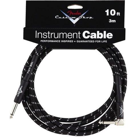 Fender Custom Shop Performance Series Cable, 10', Black, Angled