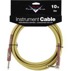 Fender Fender Custom Shop Performance Series Cable, 10', Tweed, Angled