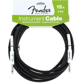 Fender Fender Performance Series Instrument Cable, 15', Black