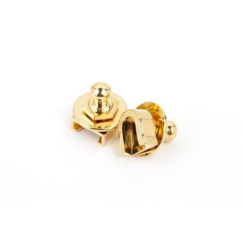 Fender Strap Locks (Gold) (2) (No Buttons)