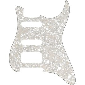 Fender Pickguard, Stratocaster H/S/S, 11-Hole Mount, Aged White Moto, 4-Ply