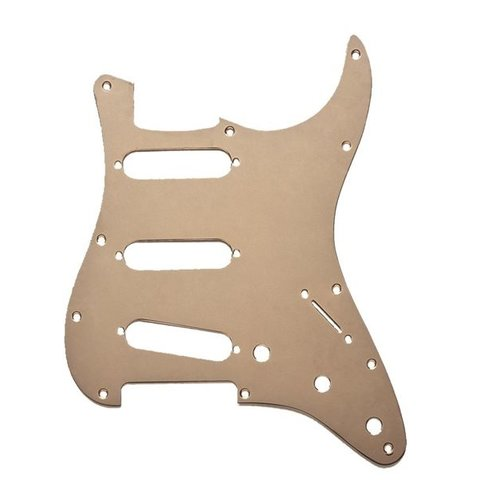 Pickguard, Stratocaster S/S/S, 11-Hole Mount, Gold Anodized Aluminum, 1-Ply