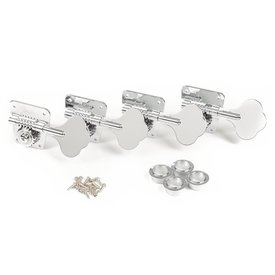 Fender Pure Vintage '70s Bass Tuning Machines, Nickel/Chrome, (4)