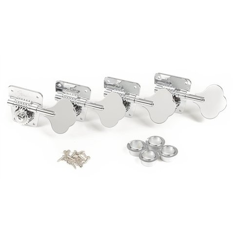 Pure Vintage '70s Bass Tuning Machines, Nickel/Chrome, (4)