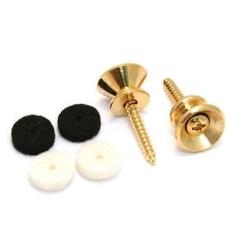 Pure Vintage Strap Buttons, Gold (2)