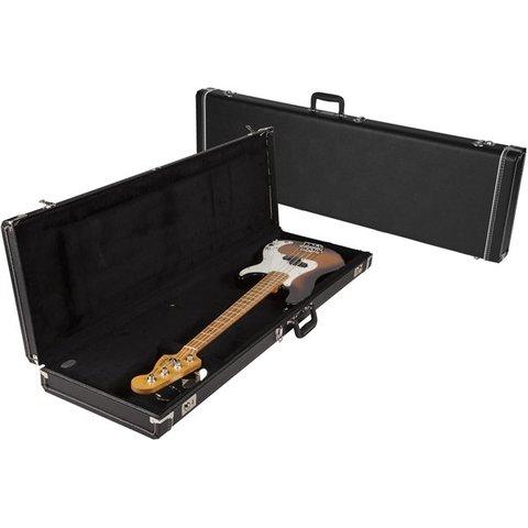 G&G Standard Precision/Jazz Bass Hard Case Left Handed Black Acrylic Interior