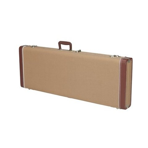 G&G Deluxe Jazz Bass Hardshell Case, Tweed with Red Poodle Plush Interior