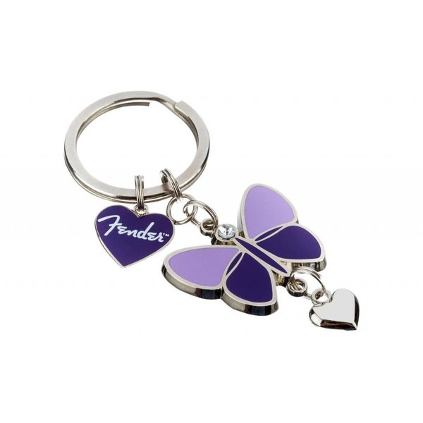 Fender Fender Butterfly Keychain, Purple