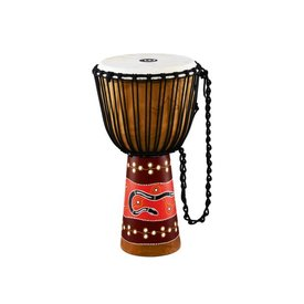 Meinl Cymbals Meinl Percussion Rope Tuned Headliner Series Wood Djembe Python Series Large