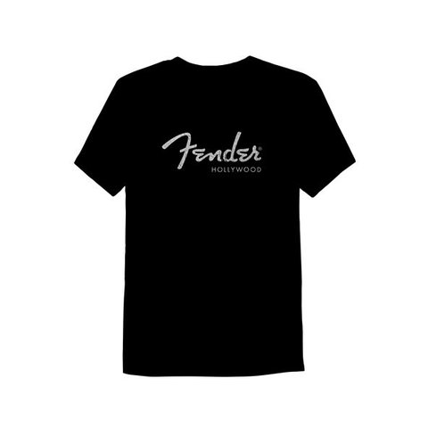 Fender Hollywood Men's T-Shirt, Black, XL