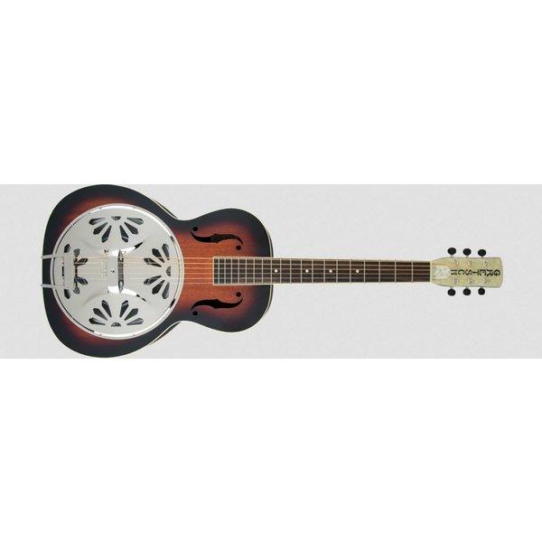 Gretsch Guitars G9220 Bobtail Round-Neck A.E. Mhgny Bdy Spider Cone Res Gtr Fishman Nashville Res Pickup 2-Color SB