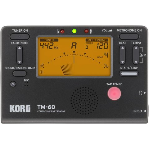 Korg TM60 Full Feature Tuner Metronome Black TM60BK