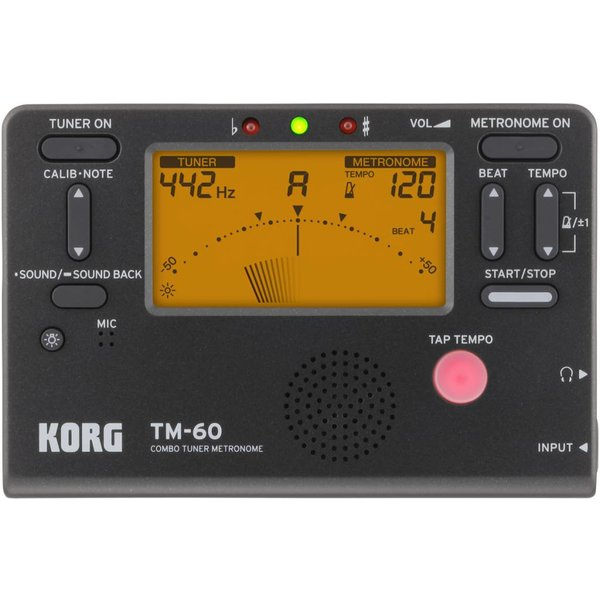 Korg Korg TM60 Full Feature Tuner Metronome Black TM60BK