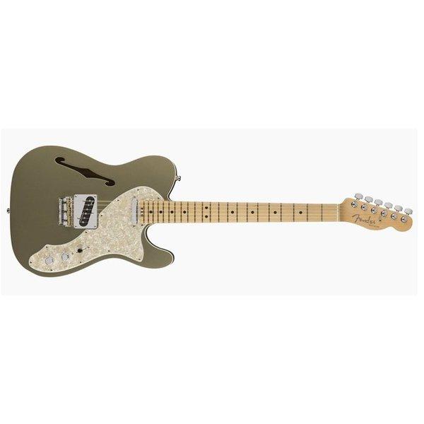 Fender American Elite Telecaster Thinline, Maple Fingerboard, Champagne