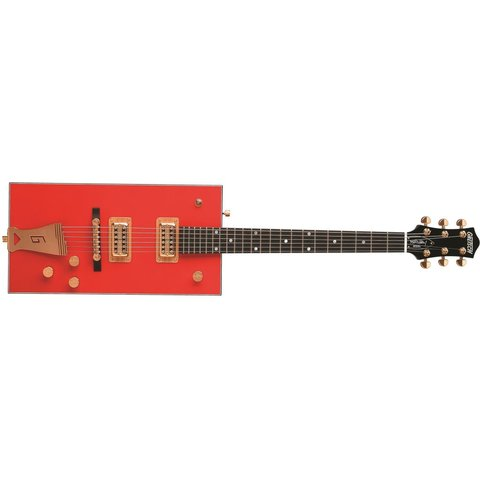 Gretsch G6138 Bo Diddley, ''G'' Cutout Tailpiece, Ebony Fingerbrd, Firebird Red