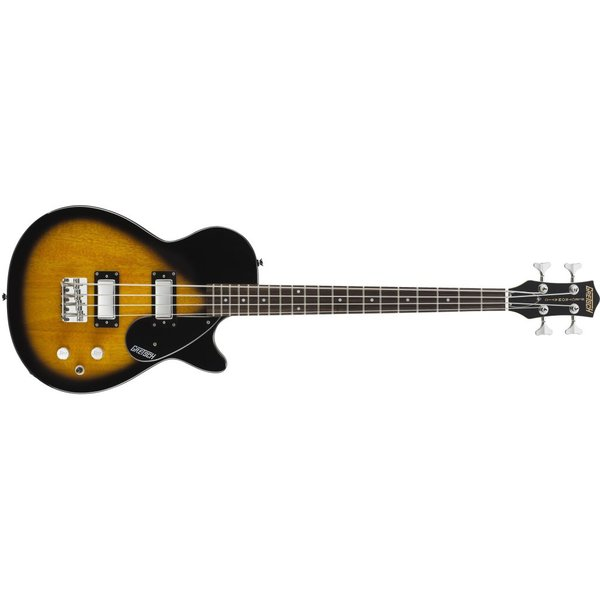 "Gretsch Guitars Gretsch G2224 Junior Jet Bass II Rosewood Fngrbrd 30.3"" Scale, Tobacco Sunburst"