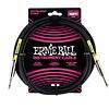 6048 Ernie Ball 10 Ft. Straight / Straight Black Jacket Pink Sleeve