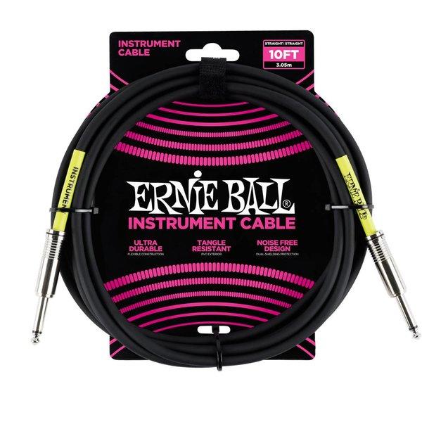 Ernie Ball 6048 Ernie Ball 10 Ft. Straight / Straight Black Jacket Pink Sleeve